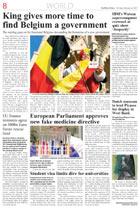 Газета The Minsk Times, полоса 8