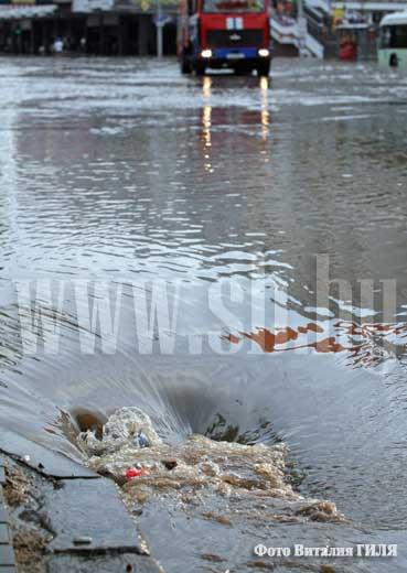 Затопленная дренажная система. Сливной канал.