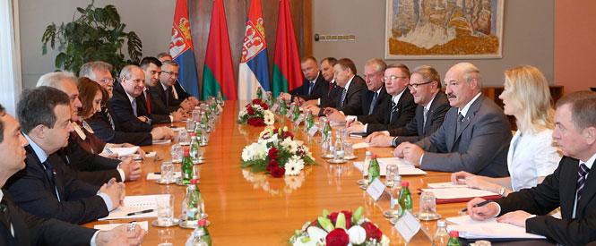 Александр Лукашенко провел переговоры с Президентом Сербии Томиславом Николичем