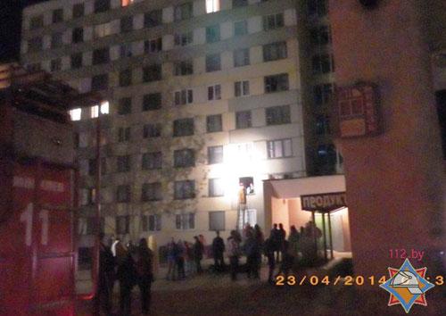 Пожар в одной из комнат общежития по улице Крупской в Могилеве вспыхнул около часа ночи 23 апреля