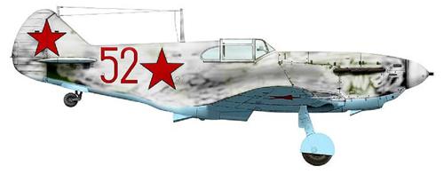 аГГ-3 старшего лейтенанта Жучкова. 3-й ГвИАП ВВС КБФ, зима 1942 - 1943 гг.