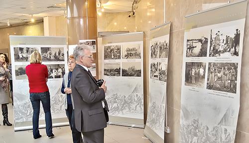 Выставка в Национальной библиотеке посвящена 100летию начала Первой мировой войны.