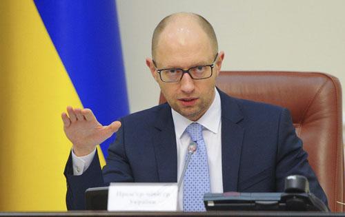 Украинский премьер-министр Арсений Яценюк объявил об отставке