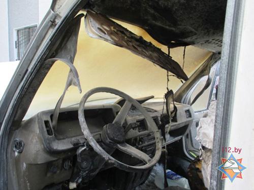 В Могилеве на ходу загорелся грузовой ГАЗ