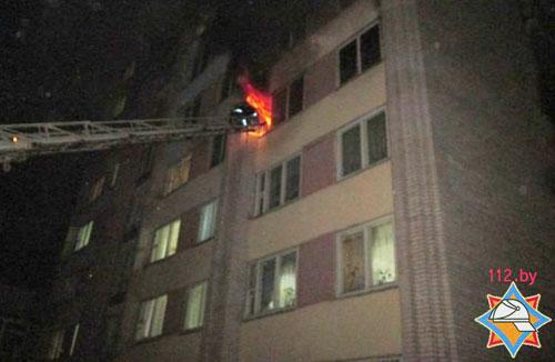 В Витебске ночью вспыхнул пожар в общежитии: эвакуировали 700 человек