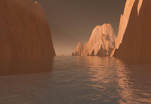 марс в воде