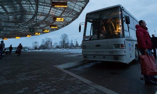 автобус на автовокзале московский