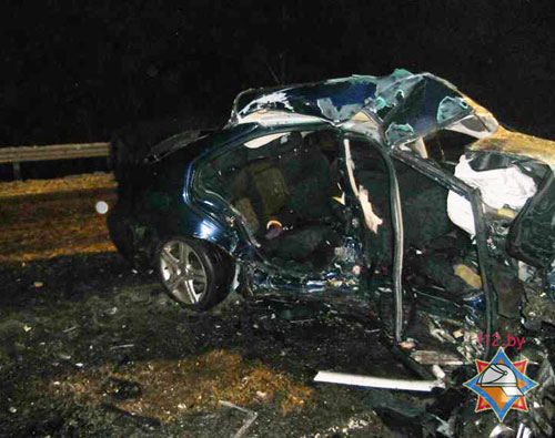 Вечером в воскресенье, 16 февраля, на 88 км трассы Р-58 Минск-Мядель (вблизи д.Ерхи Вилейского района) столкнулись автомобили