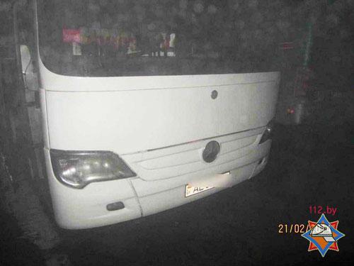 В Гродно на автостоянке горел туристический автобус