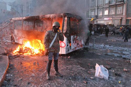 киев беспорядки майдан