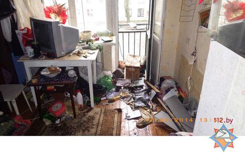 Пожар в одной из квартир девятиэтажного дома в Могилеве (на улице Строителей) вспыхнул днем 17 февраля