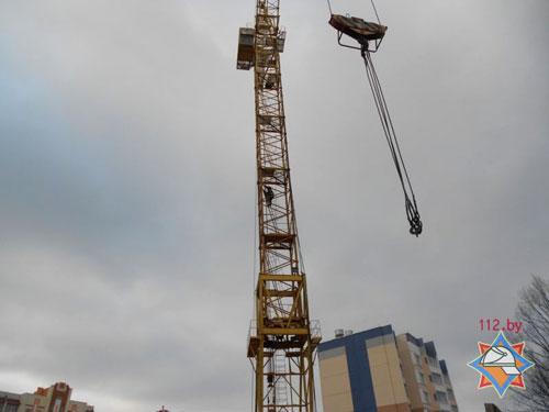Крановщику башенного крана в Рогачеве (на территории стройки по улице Богатырева, 161) стало плохо прямо на рабочем месте