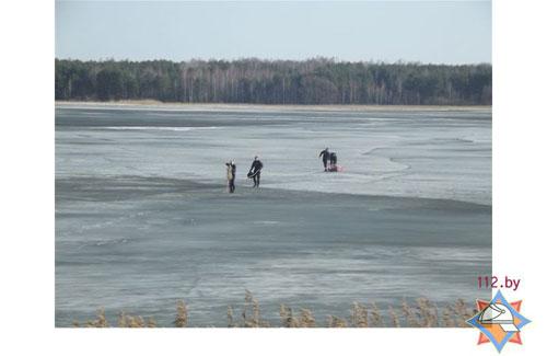 На Солигорском водохранилище в праздничный день 8 марта были спасены из воды 9 человек, все они занимались рыбной ловлей