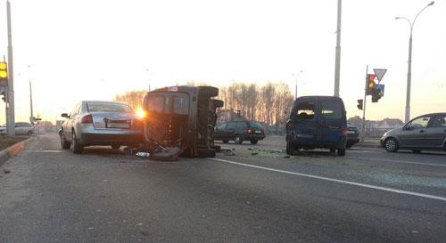 Серьезная авария произошла в 7 часов утра в Бресте