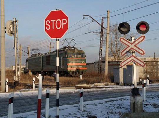 За январь-февраль произошло 2 столкновения машин с поездами