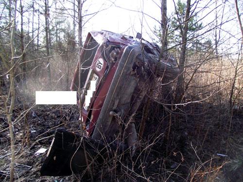 В Вороновском районе иномарка с пьяным за рулем зависла на дереве