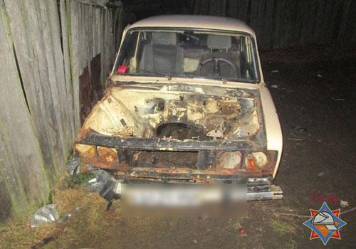 В Пуховичском районе школьник пострадал от вспышки паров бензина