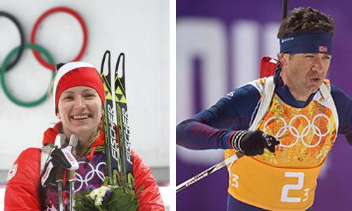 Домрачева и Бьорндален названы лучшими спортсменами сочинской Олимпиады