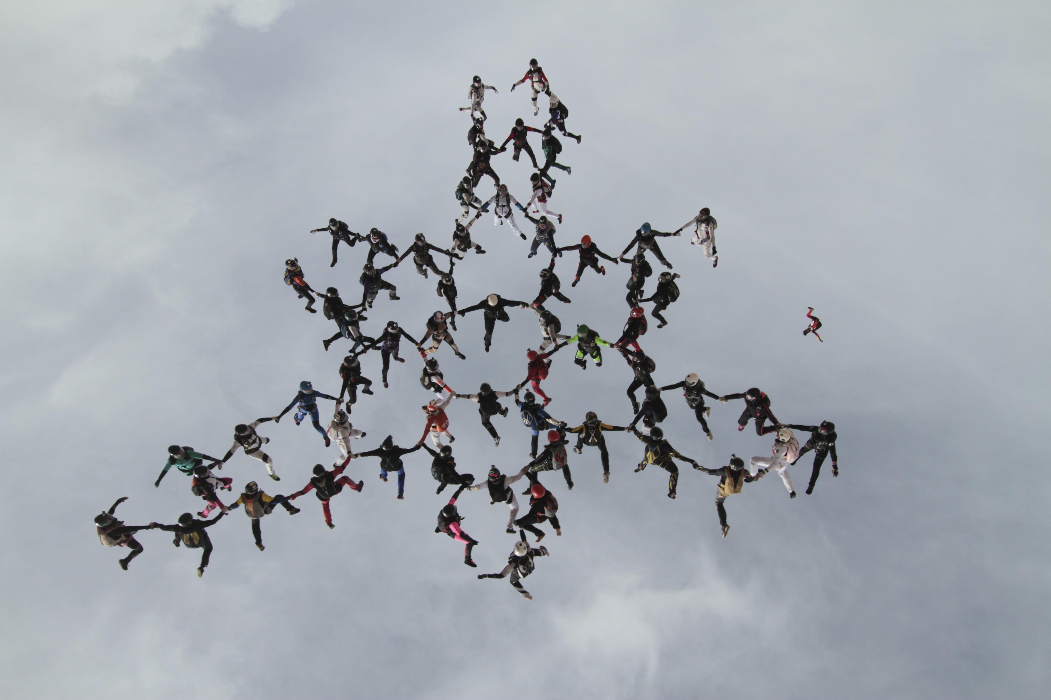 Немецкая парашютистка погибла при попытке установить мировой рекорд