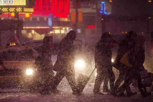 америка снег буран