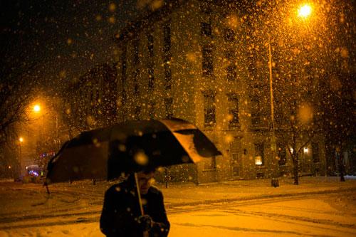 снег буран америка