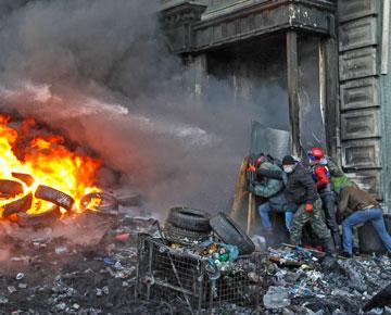 киев, майдан, баррикада, столкновения