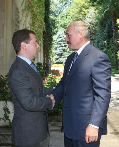 Встреча А.Лукашенко и Д. Медведева в Сочи, фото РИА Новости
