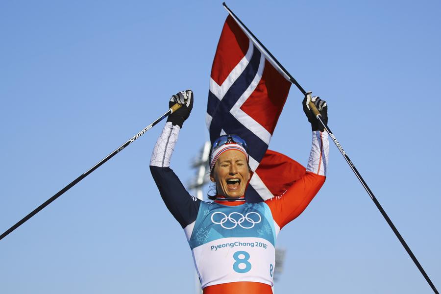Норвежка Марит Бьорген стала восьмикратной олимпийской чемпионкой