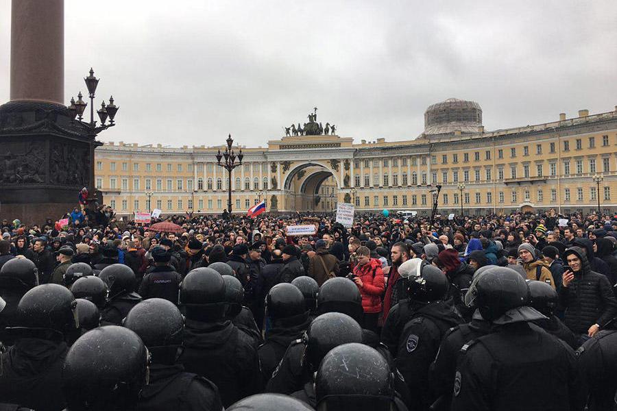 ВРФ митинги против коррупции. Задержали Навального