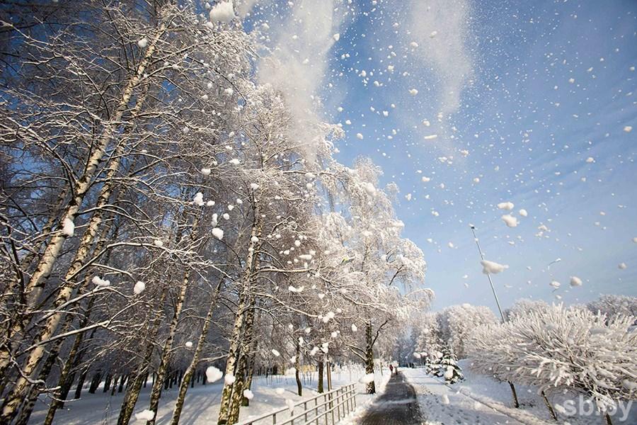 Оранжевый уровень опасности объявлен вРеспублике Беларусь 3марта из-за снегопада
