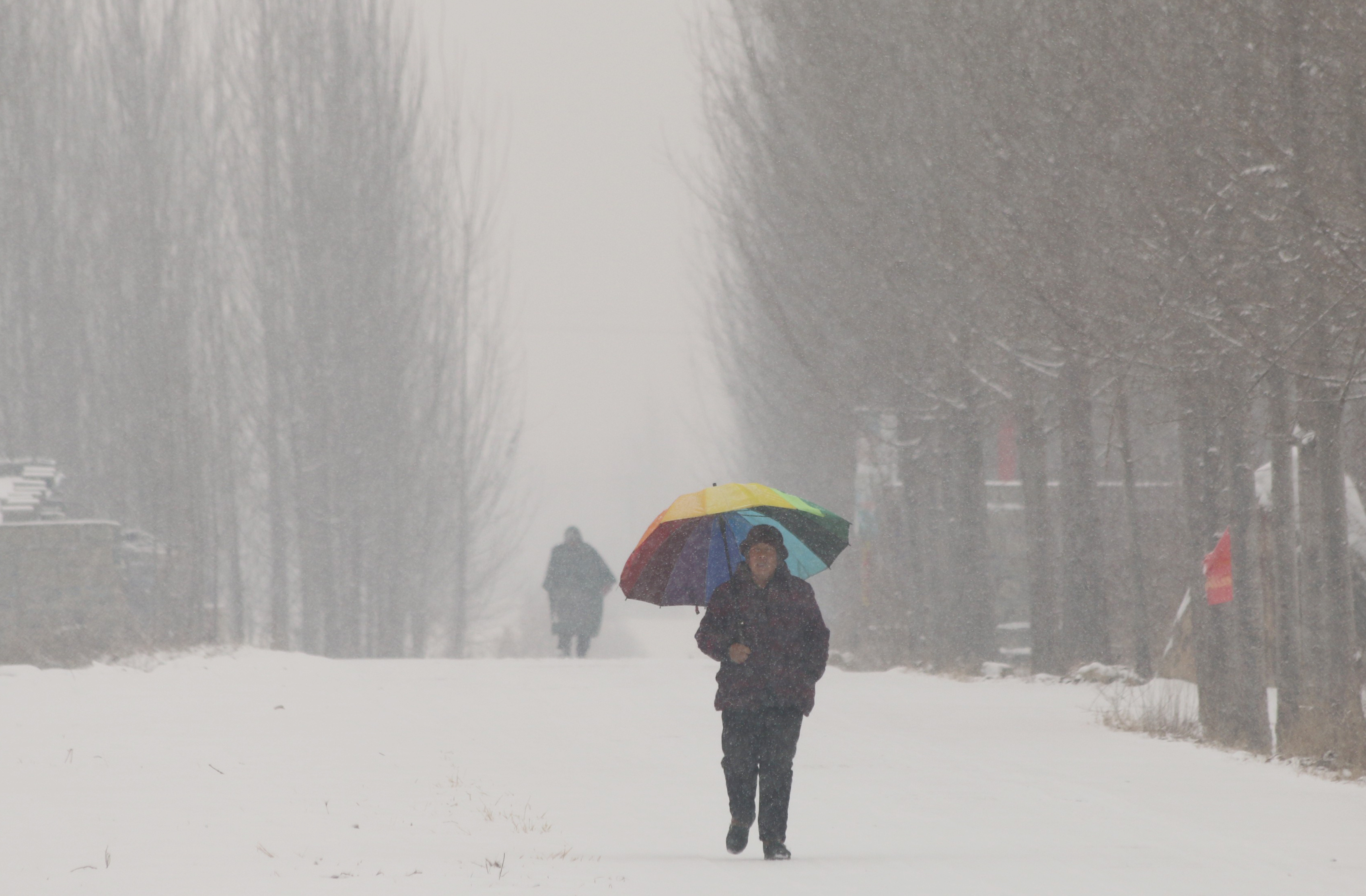Навостоке Китая 13 человек погибли из-за снегопадов