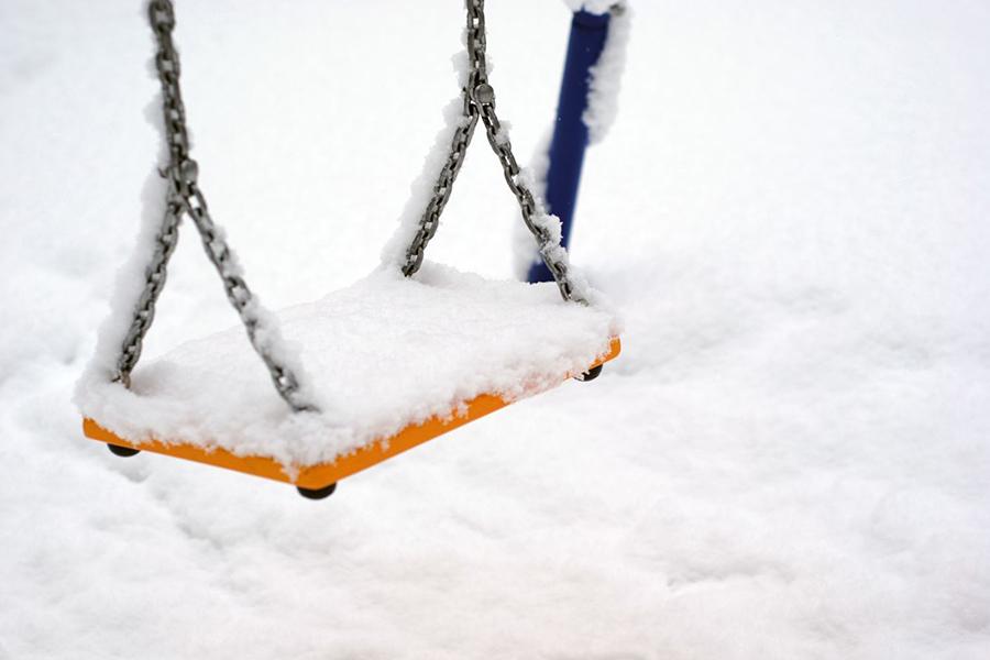 Зима приходит вБеларусь: снег, метель идо-12°С