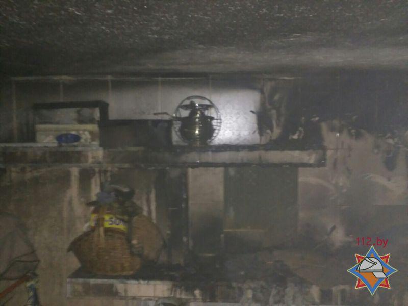 ВЛогойске впроцессе пожара ребёнок закрылся вдоме
