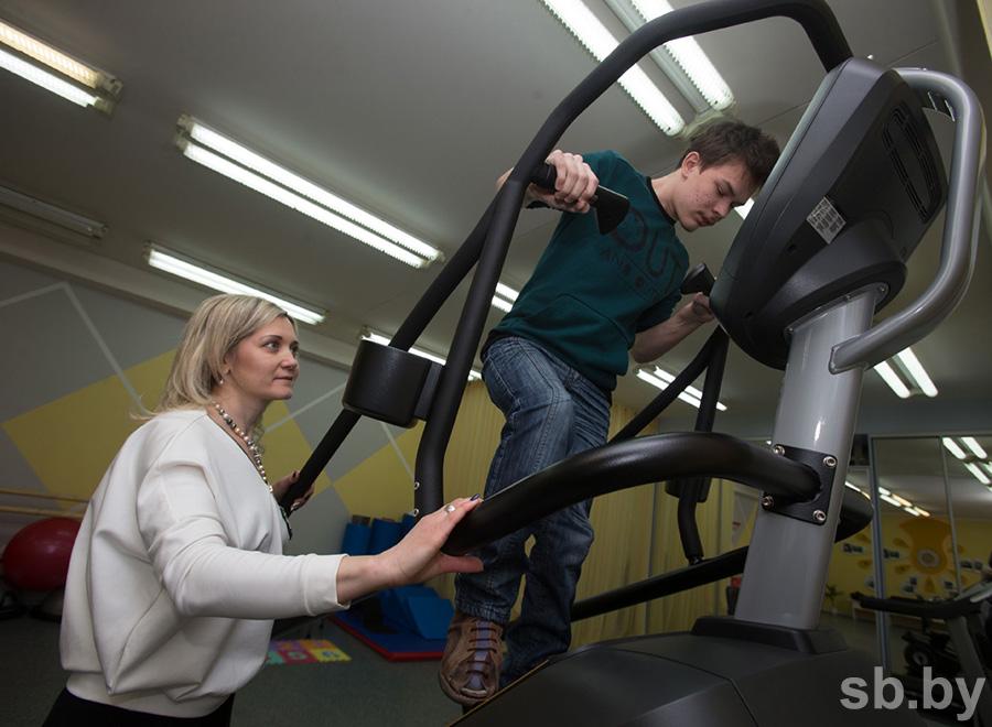 Кабинет адаптивной физкультуры оборудован самой современной реабилитационной техникой
