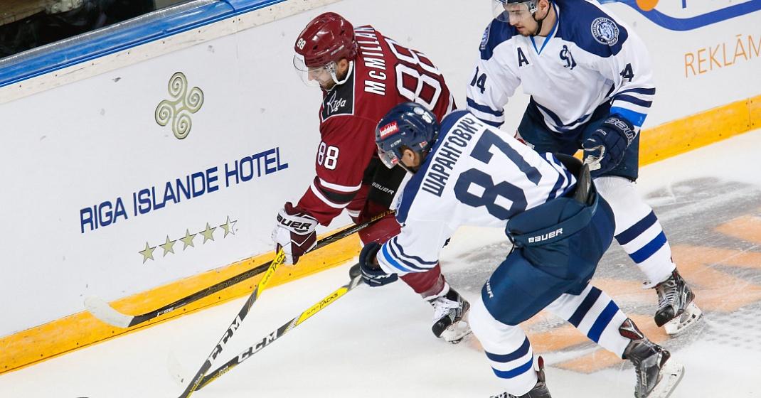 Минское «Динамо» вовертайме переиграло рижских одноклубников вматче КХЛ