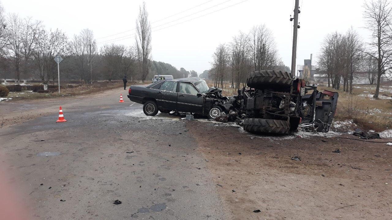 Подробности ДТП в Малоритском районе с участием AUDI и трактора