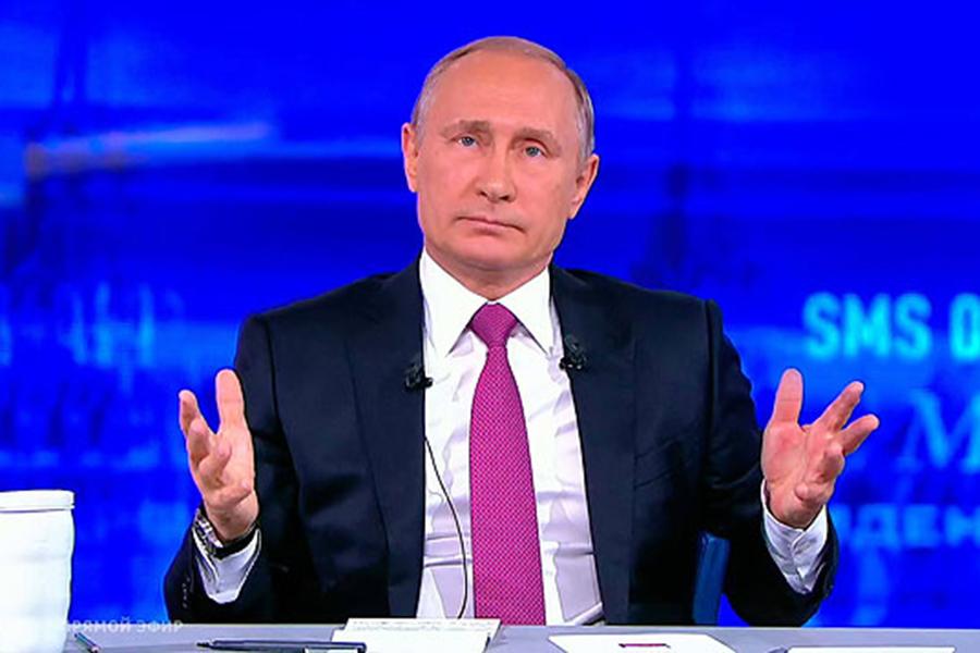 Путин поведал онабирающей обороты экономикеРФ