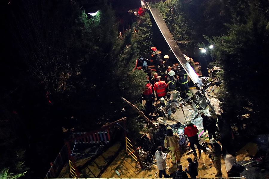 Крушение военного вертолёта вТурции. 4  офицера погибли