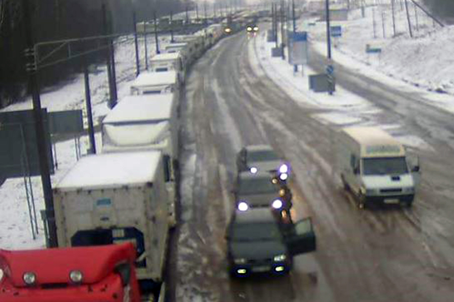 Неменее 550 фур стоят навыезде из Беларуссии