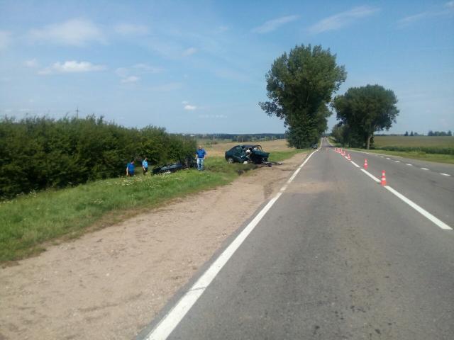 Cотрудники экстренных служб деблокировали попавшего вДТП водителя вКопыльском районе