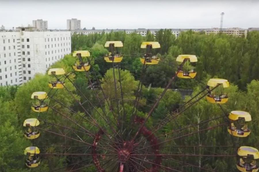 Туристы изПольши запустили колесо обозрения уЧернобыльской АЭС