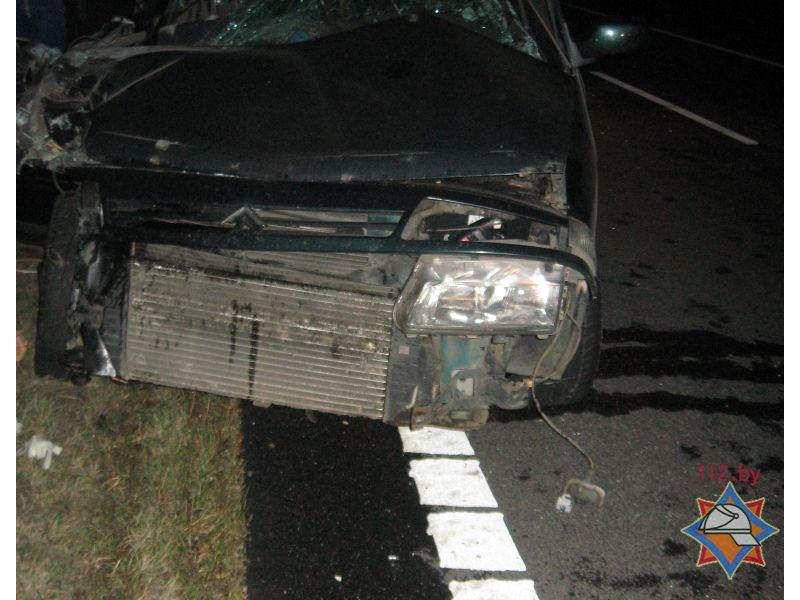 Грузовой автомобиль и Ситроен столкнулись под Осиповичами: пострадали 3 человека