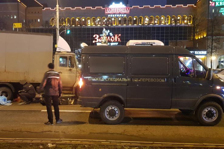 Под колесами фургона вМинске погибла девочка