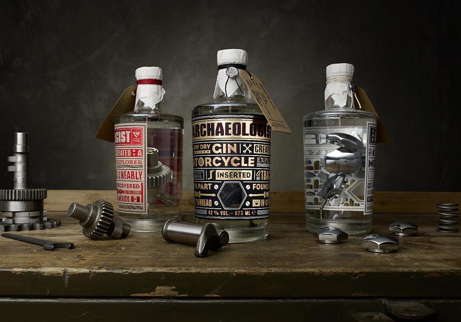 ВГермании создали джин сдеталями отраритетных Harley-Davidson вбутылке
