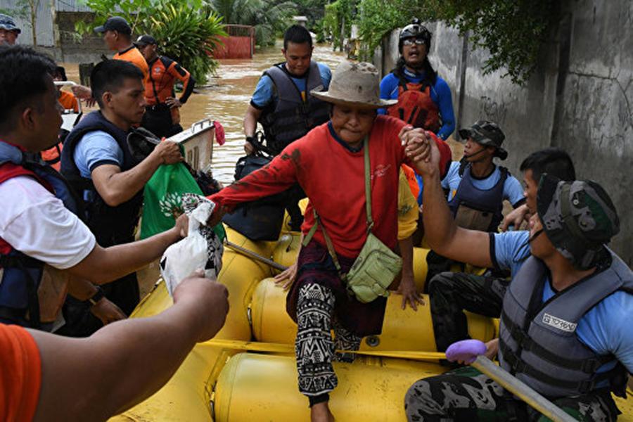Число жертв из-за тропического шторма наФилиппинах возросло до 130