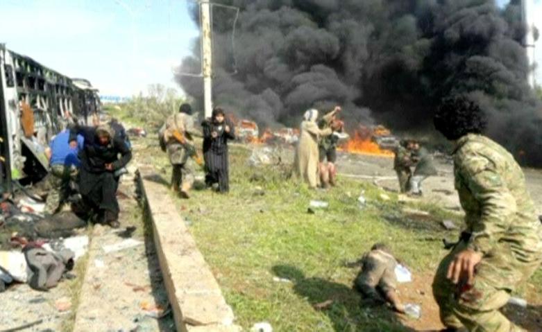 В итоге взрыва вСирии погибло неменее 100 эвакуированных