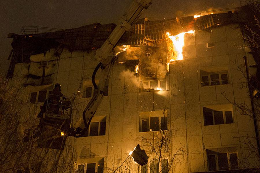 После пожара вТюмени заведено уголовное дело постатье «поджог»