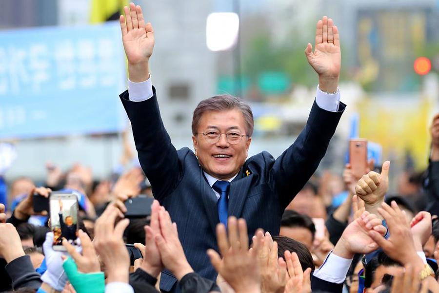 Новый президент Южной Кореи Мун Чжэ Инвступил вдолжность