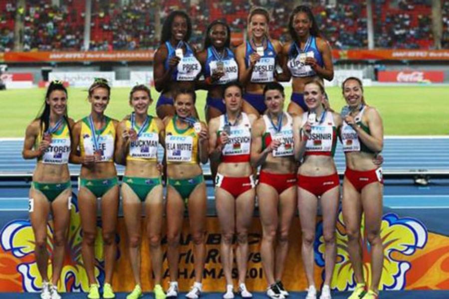 Белоруски— вторые вдисциплине 4х800 метров начемпионате мира поэстафетам