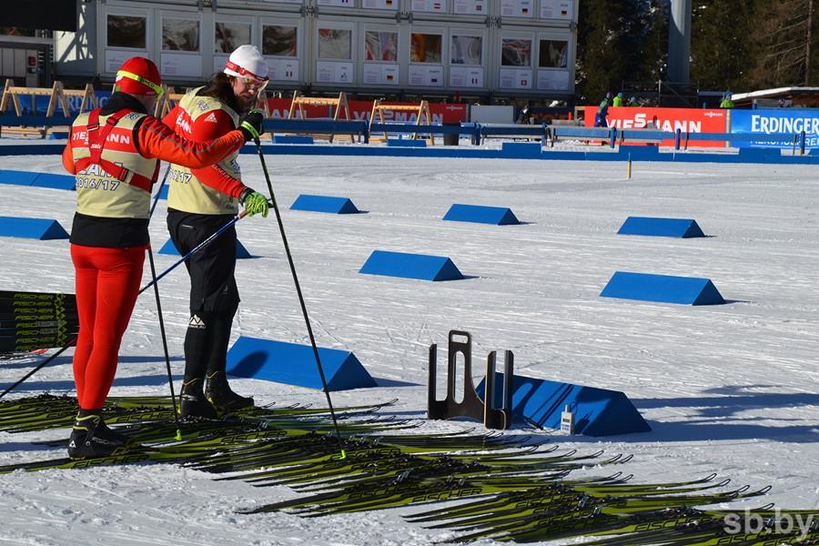 кабина для подготовки лыж у белорусов